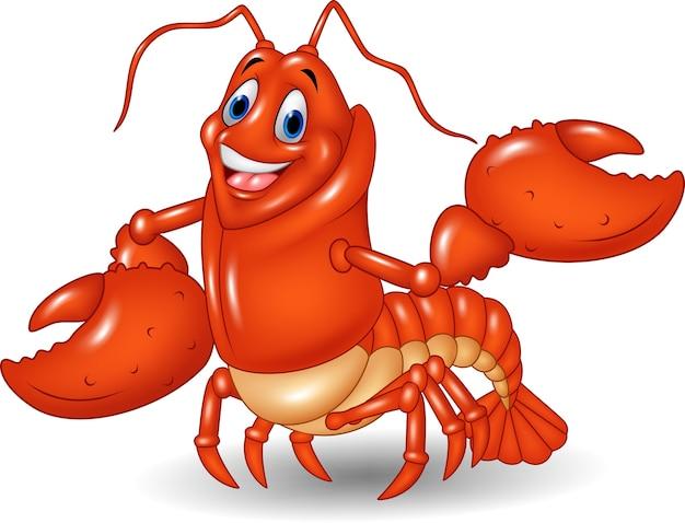 Personagem de desenho animado de camarão