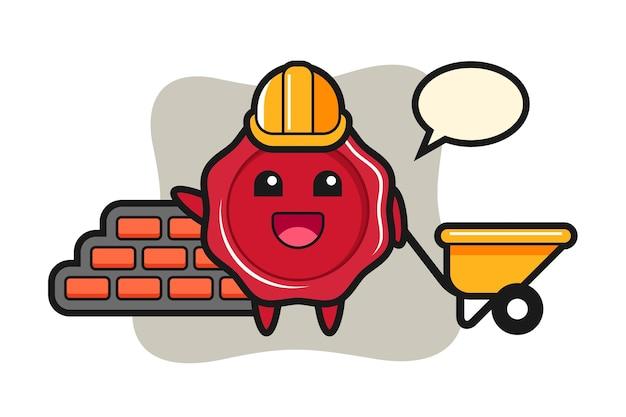 Personagem de desenho animado de cera como construtor