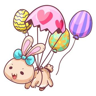 Personagem de desenho animado de coelho fofo 3