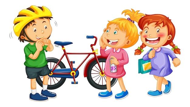 Personagem de desenho animado de crianças isoladas
