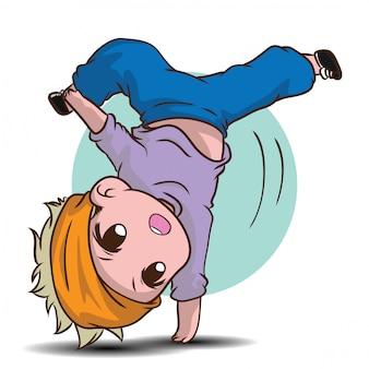 Personagem de desenho animado de dançarina bonitinha.