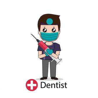 Personagem de desenho animado de dentista