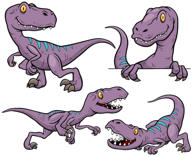 Personagem de desenho animado de dinossauro