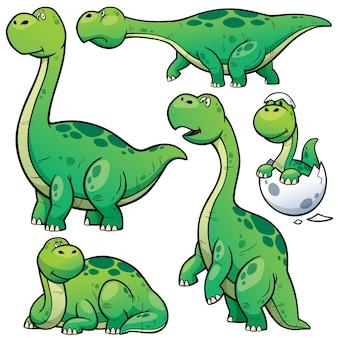 Personagem de desenho animado de dinossauros