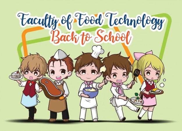 Personagem de desenho animado de estudante bonito.