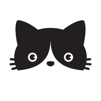 Personagem de desenho animado de gato chita gatinho vector