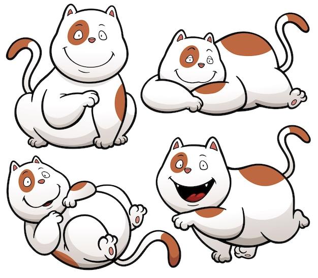 Personagem de desenho animado de gato