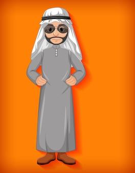 Personagem de desenho animado de homem árabe