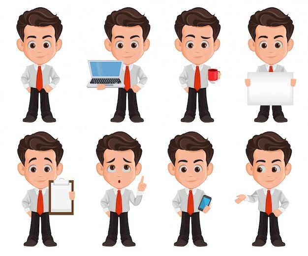 Personagem de desenho animado de homem de negócios