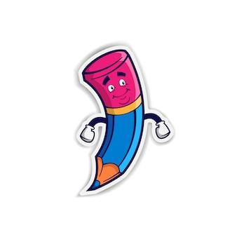 Personagem de desenho animado de lápis
