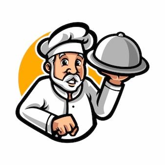 Personagem de desenho animado de mascote de chef
