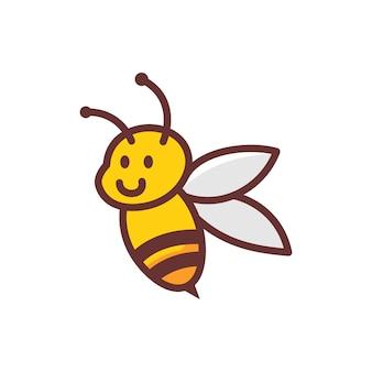 Personagem de desenho animado de mascote de logotipo de abelha