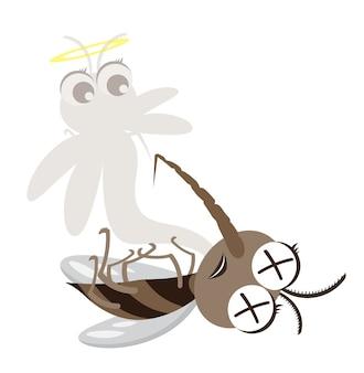 Personagem de desenho animado de mosquito