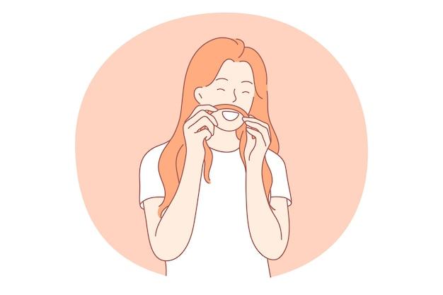 Personagem de desenho animado de mulher fazendo bigode com o cabelo