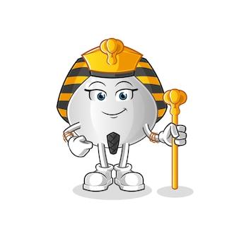 Personagem de desenho animado de pão de carne do egito