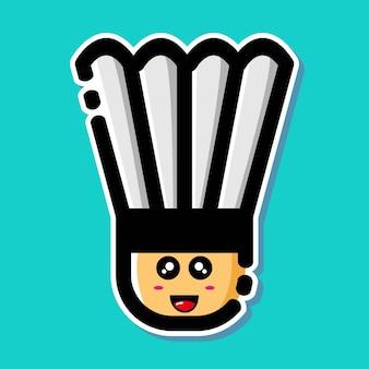 Personagem de desenho animado de peteca fofa