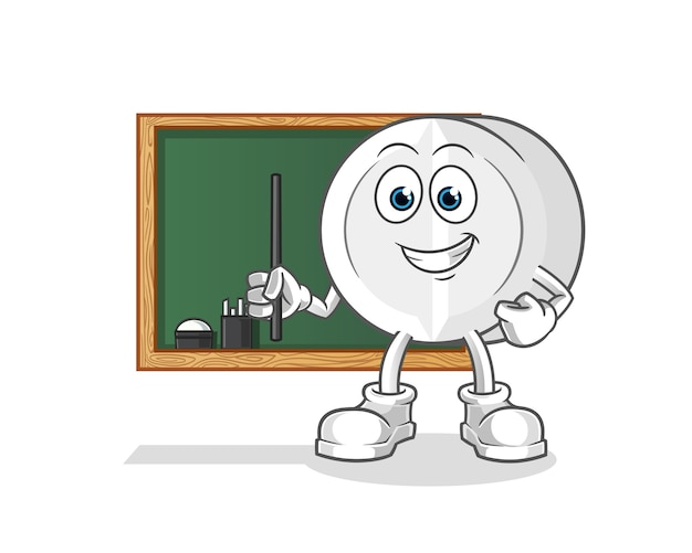 Personagem de desenho animado de professor de medicina