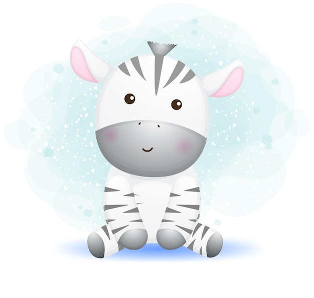 Personagem de desenho animado de zebra fofinho