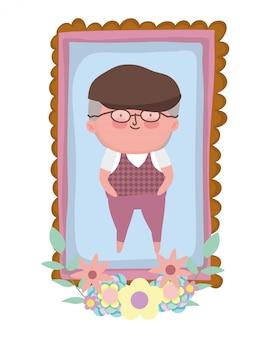 Personagem de desenho animado do avô
