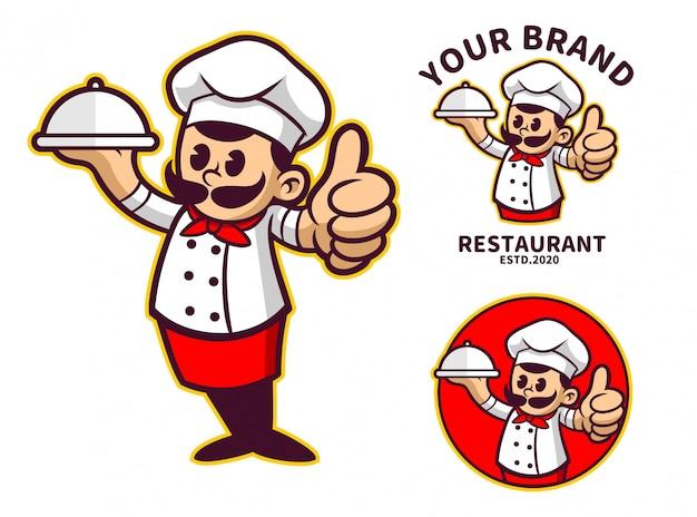 Personagem de desenho animado do chef