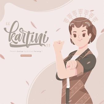 Personagem de desenho animado do happy kartinis day