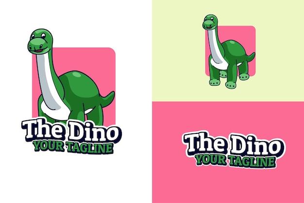 Personagem de desenho animado do logotipo dinobaby dino