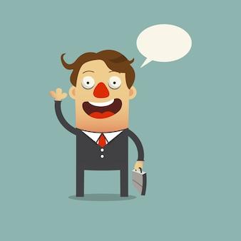 Personagem de desenho animado feliz homem de negócios