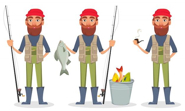 Personagem de desenho animado fisher
