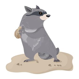 Personagem de desenho animado guaxinim