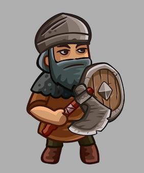 Personagem de desenho animado guerreiro