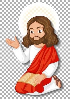 Personagem de desenho animado jesus isolado