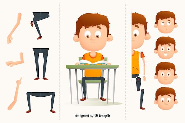 Personagem de desenho animado para design de movimento
