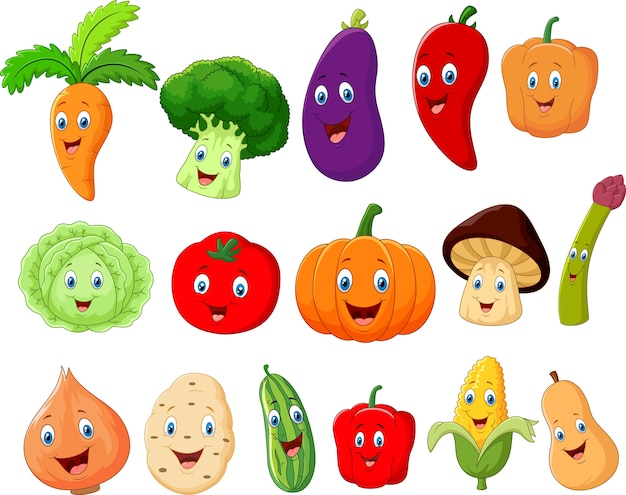 Personagem de desenho animado vegetal bonito