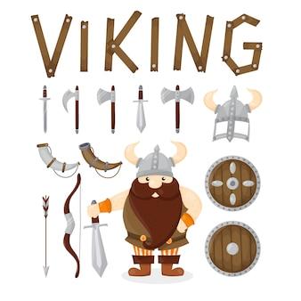 Personagem de desenho animado viking
