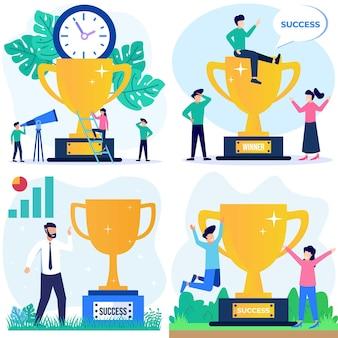 Personagem de desenho gráfico vetorial de ilustração de maior sucesso e crescimento