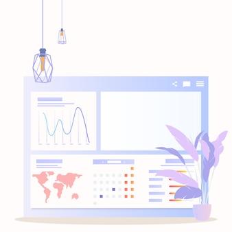 Personagem de empresária de análise global de dados grath