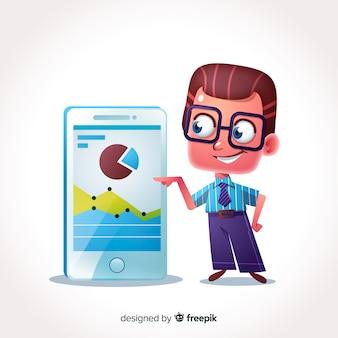 Personagem de empresário 3d
