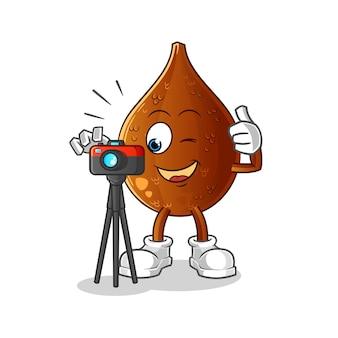 Personagem de fotógrafo de palma espinhosa