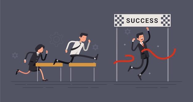 Personagem de funcionário de sucesso