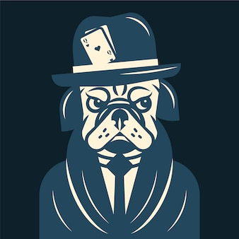 Personagem de gangster / máfia retrô