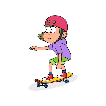 Personagem de garota skatista