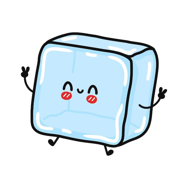 Personagem de gelo fofinho e engraçado