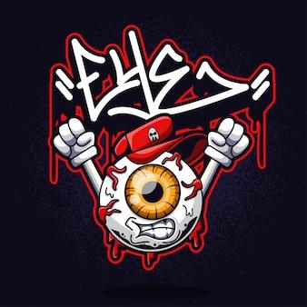 Personagem de graffiti de olho
