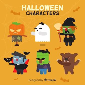 Personagem de halloween embalar em estilo cartoon