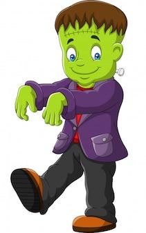 Personagem de halloween frankenstein