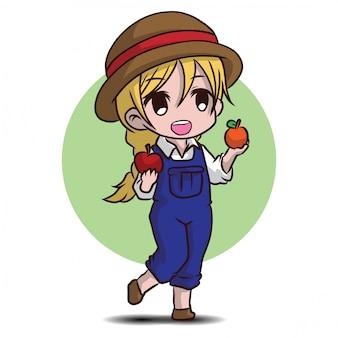 Personagem de jardineiro bonito