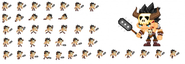 Personagem de jogo bárbaro