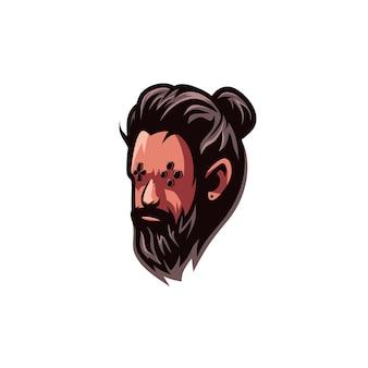Personagem de jogo de barba