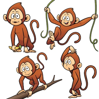 Personagem de macaco dos desenhos animados