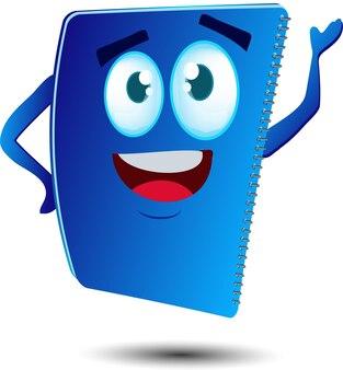 Personagem de mascote de caderno fofo